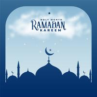 Ramadã kareem temporada islâmica mesquita fundo