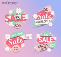Försäljning - uppsättning modefärger moderna etiketter.