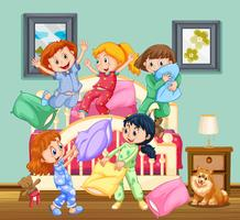 Children at the slumber party
