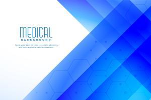 Fondo de asistencia médica médica abstracto azul