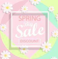 Modern geometric pastel spring sale design.