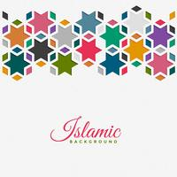 islamic pattern background in colorful style