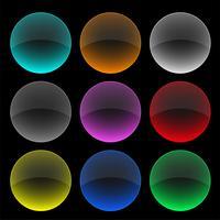 set di pulsanti o banner di vetro colorato cerchio