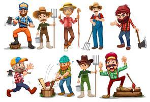 Landwirte und Holzfäller