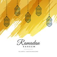 abstract ramadan kareem watercolor background
