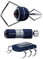 Diferentes diseños de nanobots.