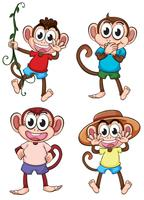 Four giggling monkeys