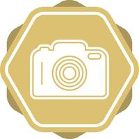 Icône de fond multicolore glyphe de caméra