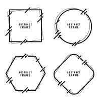 stylish abstract lines style frames set