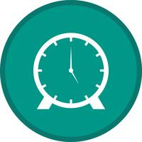 Icône de fond d'horloge glyphe multicolore