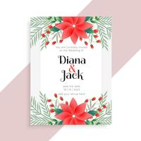 wedding floral card template design