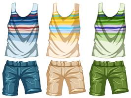 Fashion design for tanktop and shorts