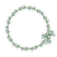 quadro redondo verde das folhas isoladas no fundo branco. Ilustração vetorial EPS10