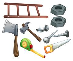 Diferentes tipos de ferramentas de construção