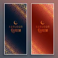 islamiska ramadan kareem vertikala banderoller
