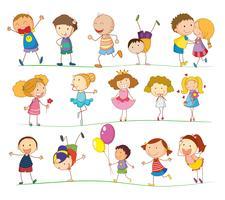 Niños simples vector