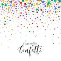 falling confetti background in many colors