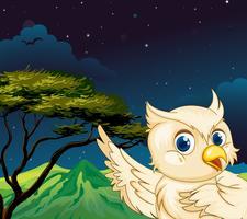 Um grande pássaro na floresta