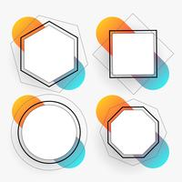 abstract geometric frames set template