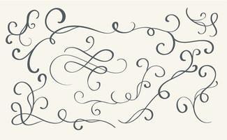 Set av konst kalligrafi blomstra vintage dekorativa halsband för design. Vektor illustration EPS10