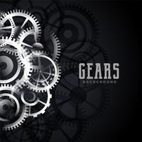 abstract metallic gears background design