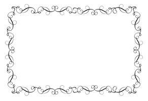 Dekorativ ram och kant Art. Kalligrafi bokstäver Vektor illustration EPS10