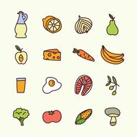 Doodled Healthy Food  vector