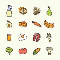 Nourriture saine doodled