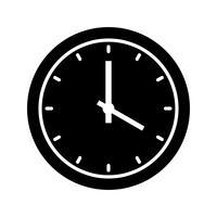 Icône de glyphe d'horloge noire