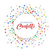 abstract colorful confetti frame background