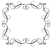 Decorative Frame and Borders Art. Calligraphy lettering Vector illustration EPS10