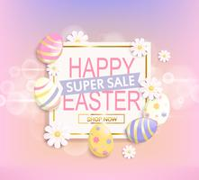 The Easter advertisement with eggs. vector