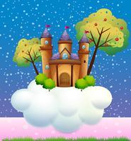 Um castelo em uma nuvem