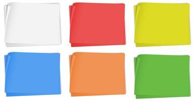 Papierdesign in sechs Farben