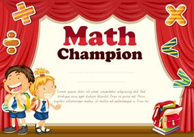 Certificate with children in uniform background