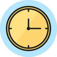 Icône Ligne Remplie Horloge