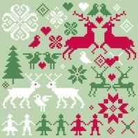 Motivos de invierno vector nórdico