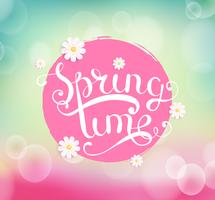 Spring time typographical Background.