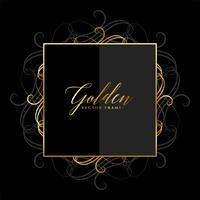 design del telaio dorato floreale ornamentale lucido