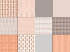 small orange grey geometric patterns