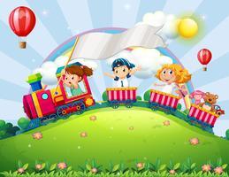 Crianças e trem