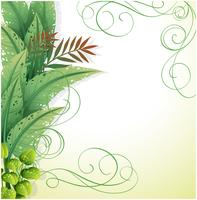 A white paper with green plants