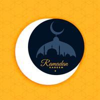 design de cartaz ramadan kareem em estilo de cor lisa