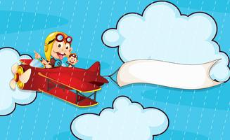 monkey in airplane vector