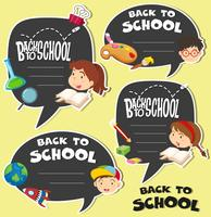 Ritorno a scuola segno con i bambini