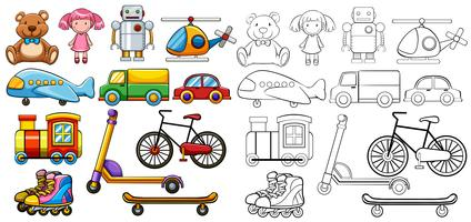 Classic toys vector
