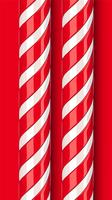 High detailed red candy cane, vector illustration