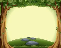 Eine leere Waldvorlage