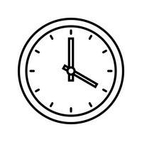 Ligne d'horloge noir icône