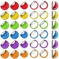 Klistermärke design i rund form